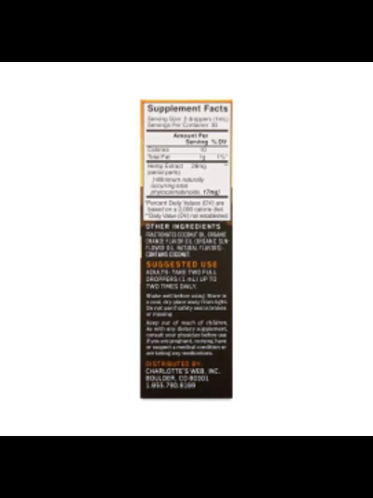 CHARLOTTE'S WEB Charlotte's Web 17mg Oil, Orange Blossom, 1oz.