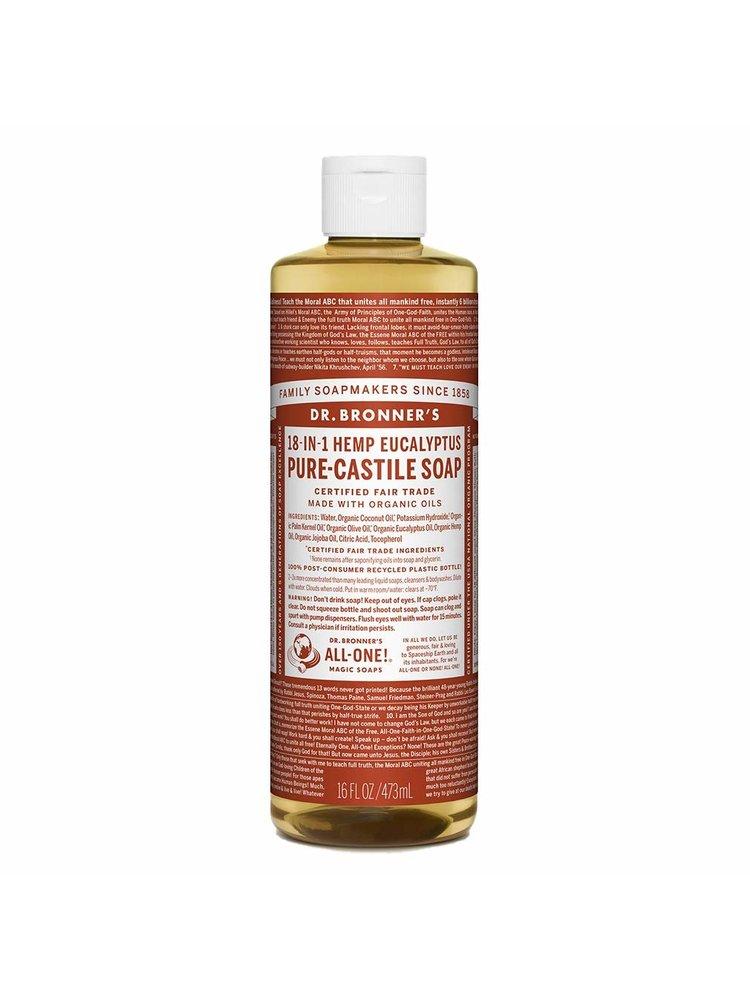 Dr. Bronner's Dr, Bronner's Pure Castile Liquid Soap, Eucalyptus, 16oz.