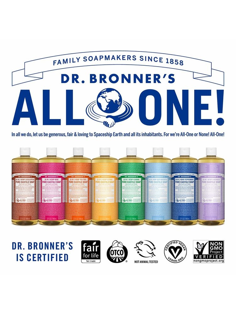 Dr. Bronner's Dr, Bronner's Pure Castile Liquid Soap, Unscented Baby Soap, 16oz.