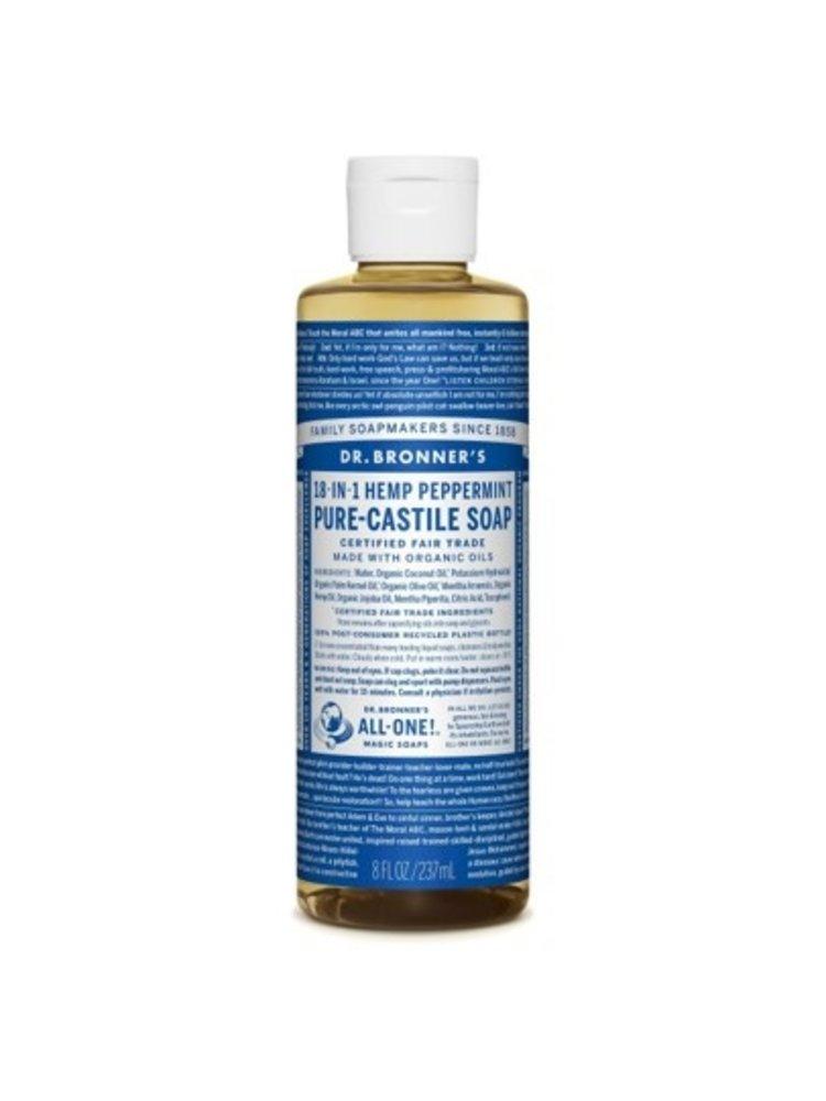 Dr. Bronner's Dr, Bronner's Pure Castile Liquid Soap, Peppermint, 8oz.