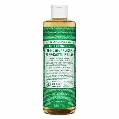 Dr. Bronner's Dr, Bronner's Pure Castile Liquid Soap, Almond, 16oz.