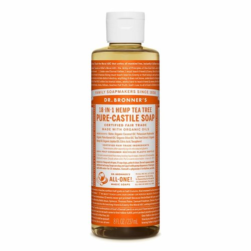 Dr. Bronner's Dr  Bronner's Pure Castile Liquid Soap, Tea Tree, 8oz.