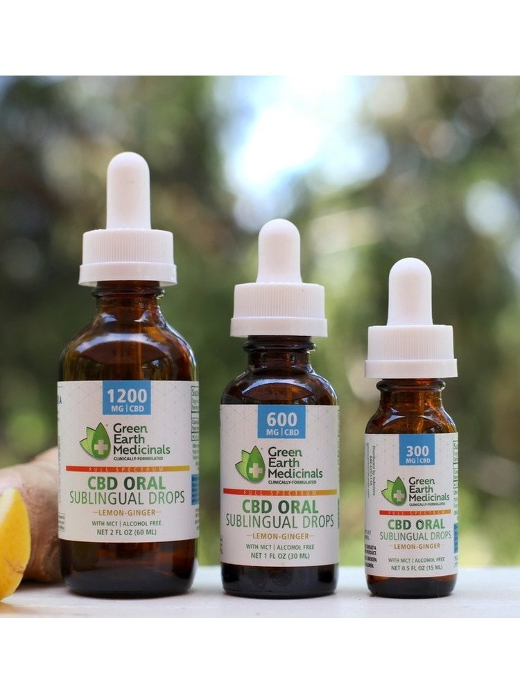 GREEN EARTH MEDICINALS Green Earth Medicinals Oral Formula Lemon Ginger, 2oz.