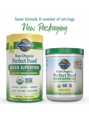 Garden of Life GoL Raw Organic Perfect Food, Original, 7.4oz.