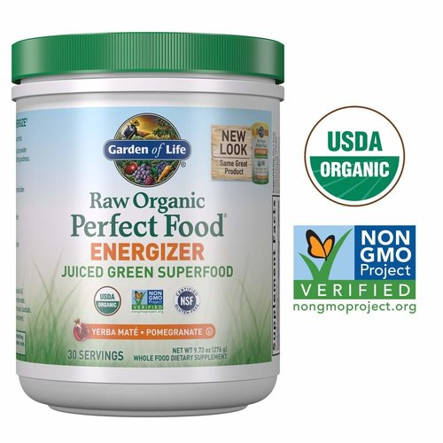 Garden of Life GoL Raw Organic Perfect Food, Energizer, 9.8oz.