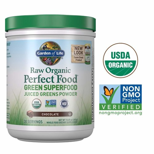 Garden of Life GoL Raw Organic Perfect Food, Chocolate, 11.9oz.