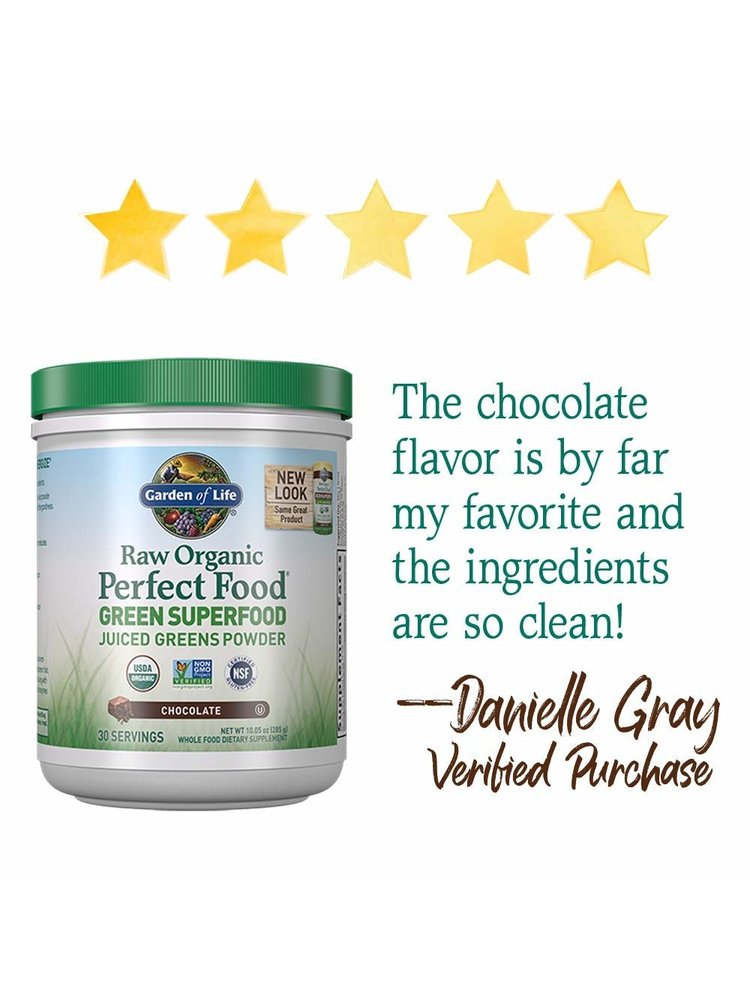 Garden of Life GoL Raw Organic Perfect Food, Chocolate, 11.9oz.