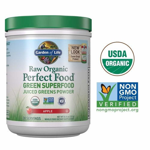Garden of Life GoL Raw Organic Perfect Food, Apple, 8.3oz.