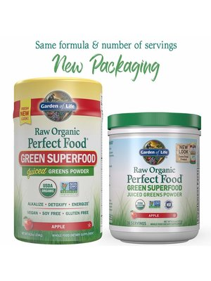 Garden of Life GoL Raw Organic Perfect Food, Apple, 8.3oz.