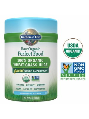 Garden of Life GoL Raw Organic Perfect Food, Wheat Grass, 4.2oz.