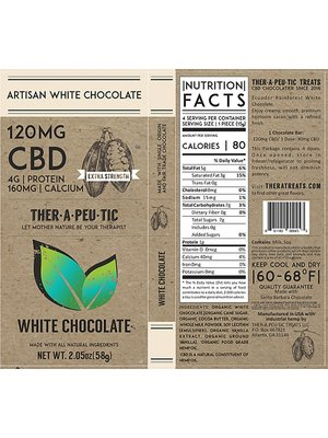 THERAPEUTIC TREATS Therapeutic Treats White Chocolate, 120mg, 2.05oz.