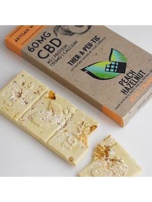 THERAPEUTIC TREATS Therapeutic Treats Peach Hazelnut White Chocolate, 60mg, 2.04oz. - DISCO