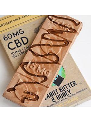 THERAPEUTIC TREATS Therapeutic Treats PB & Honey Milk Chocolate, 60mg, 2.43oz.