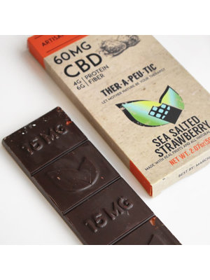 THERAPEUTIC TREATS Therapeutic Treats SSalt Strwbry Dark Chocolate, 60mg, 2.07oz.