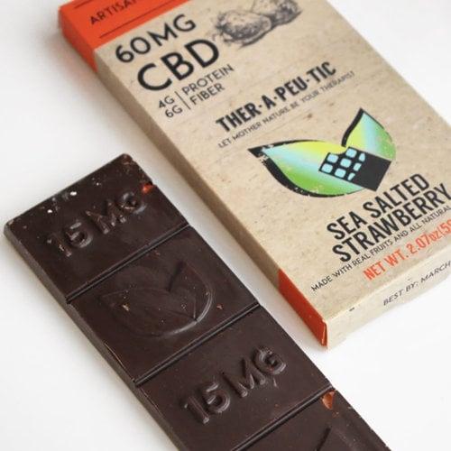 THERAPEUTIC TREATS Therapeutic Treats SSalt Strwbry Dark Chocolate, 60mg, 2.07oz. - DISCO