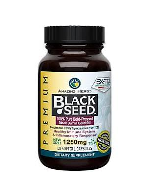 AMAZING HERBS Amazing Herbs Black Seed Oil 1250mg, 60sg