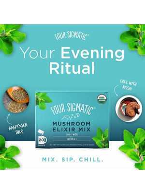 FOUR SIGMATIC Four Sig Mush Elixir, Reishi, CHILL, Org, 20ct