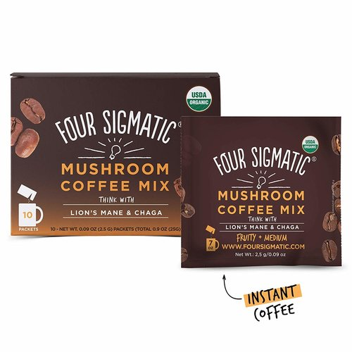 FOUR SIGMATIC Four Sigmatic Mushroom Coffee Mix, Lion's Mane, THINK, Org, 10ct