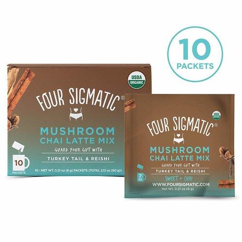 FOUR SIGMATIC Four Sigmatic Mushroom Chai Latte w/Turkey Tail&Reishi, 10ct - DISCO