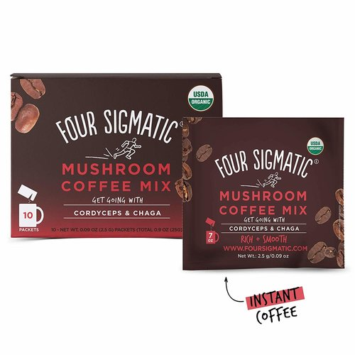 FOUR SIGMATIC Four Sigmatic Mushroom Coffee, Cordyceps & Chaga, Org, 10ct