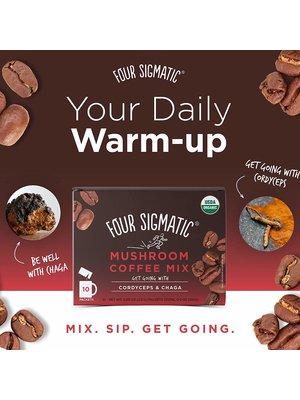 FOUR SIGMATIC Four Sigmatic Mushroom Coffee, Cordyceps & Chaga, Org, 10ct