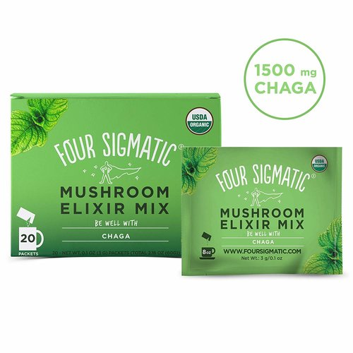 FOUR SIGMATIC Four Sigmatic Mushroom Elixir, Chaga, DEFEND, Org, 20ct
