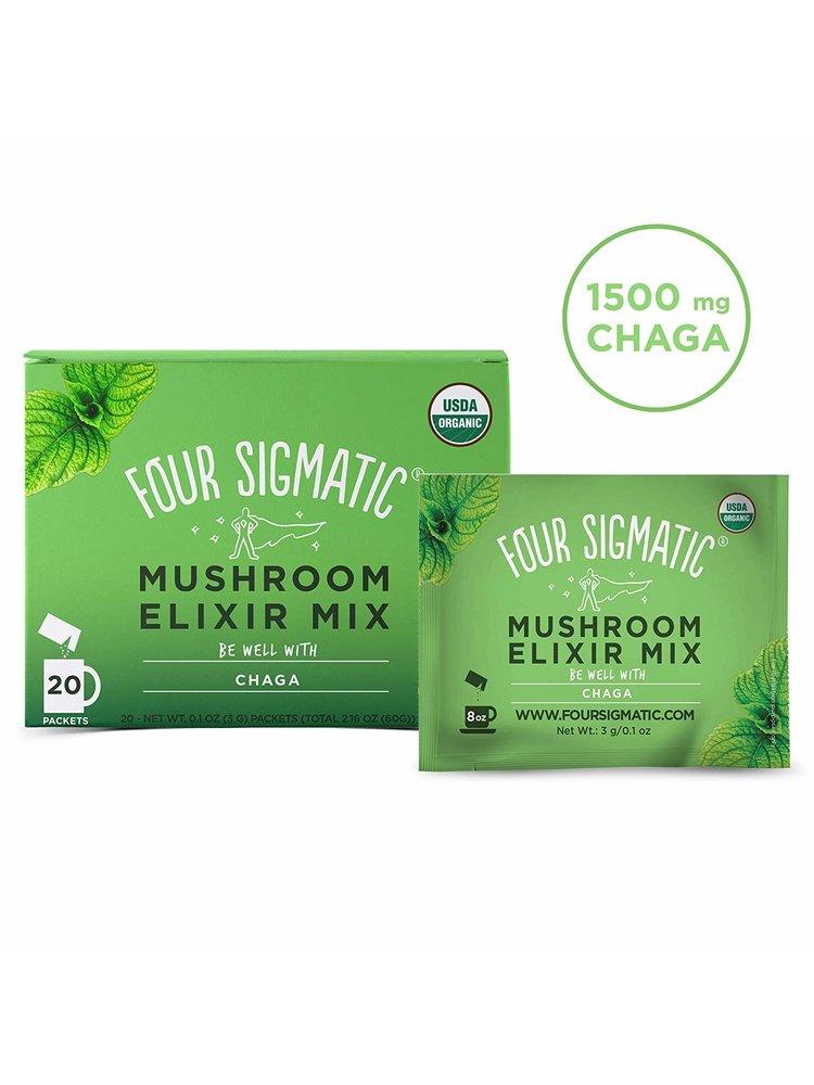 FOUR SIGMATIC Four Sigmatic Mushroom Elixir, Chaga, DEFEND, Org, 20ct