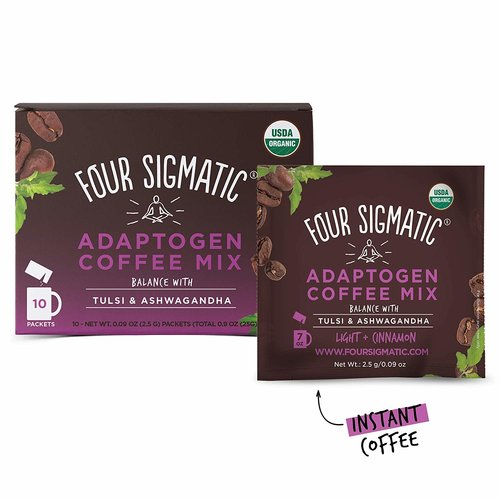 FOUR SIGMATIC Four Sigmatic Mushroom Coffee, Adaptogens, 10ct Instant
