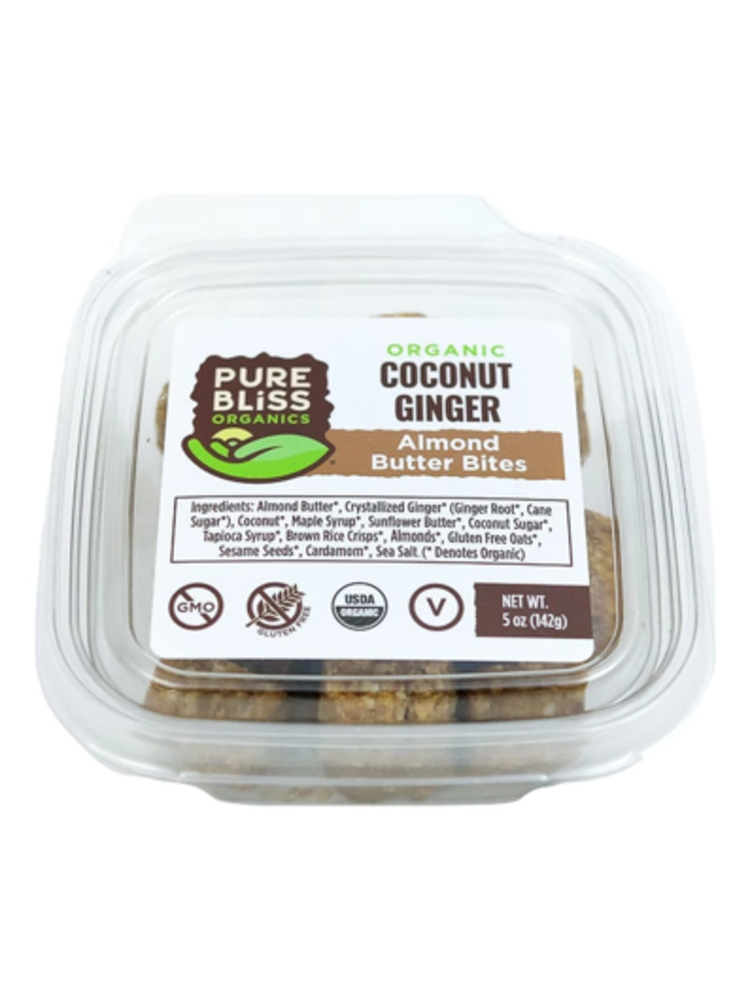 Pure Bliss Pure Bliss Organics Coconut Ginger Almond Butter Bites, 4oz.