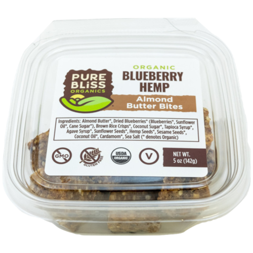 Pure Bliss Pure Bliss Organics Blueberry Hemp Bites, 4oz.