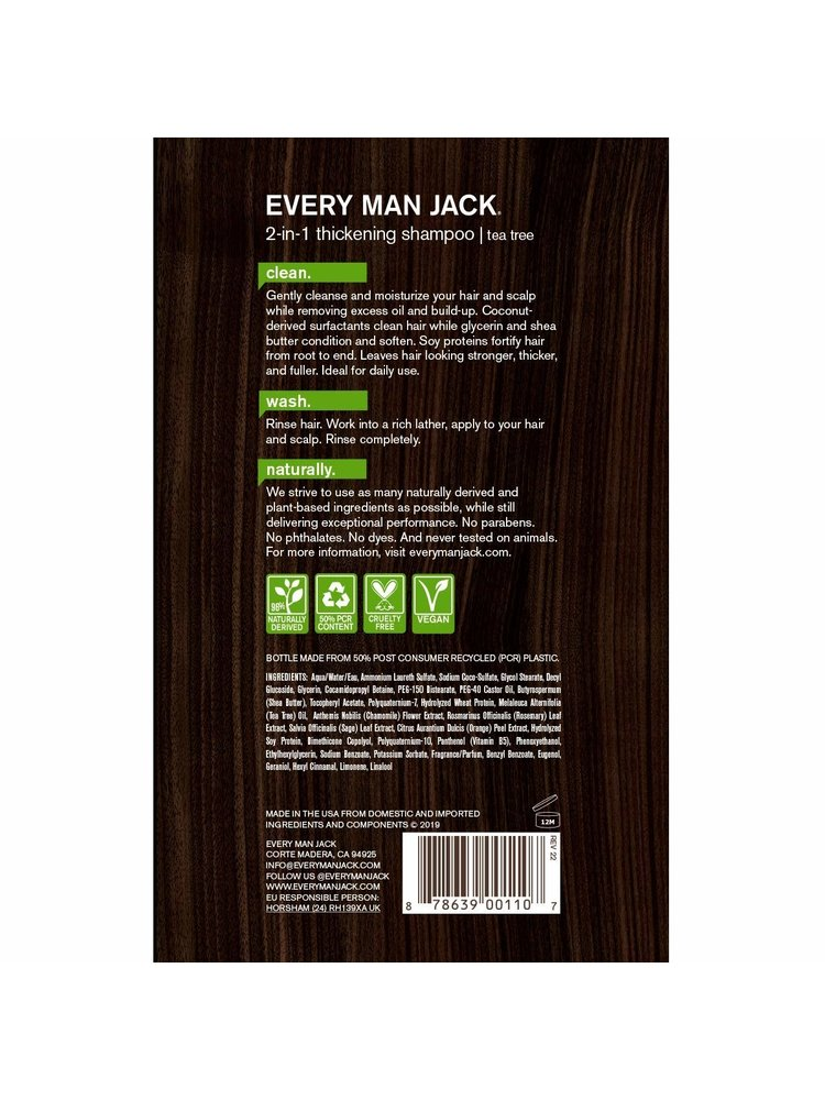 Every Man Jack Every Man Jack 2-in-1 ThIckening Shampoo & Conditioner, 13.5oz.