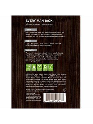 Every Man Jack Every Man Jack Shaving Cream, Fragrance Free, 6.7oz.