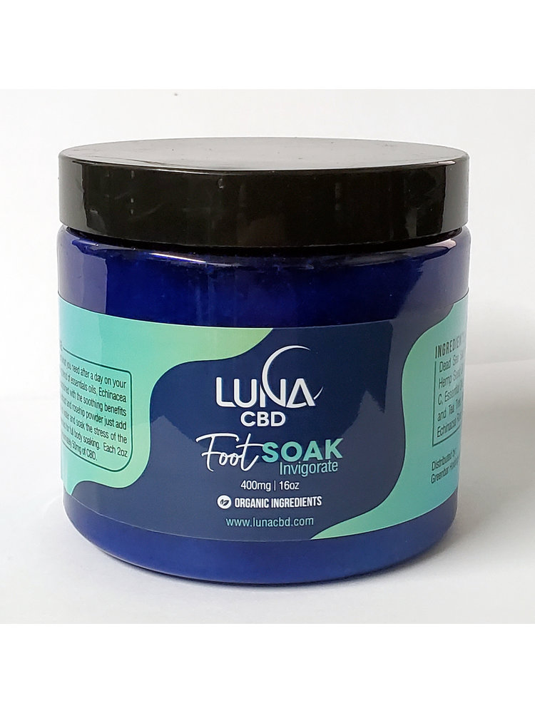 LUNA CBD Luna Foot Soak 400mg, 16oz