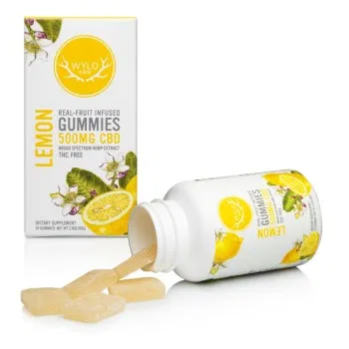 WYLD Wyld CBD Gummies 500mg, Lemon, 20ct