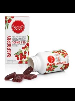WYLD Wyld CBD Gummies 500mg, Raspberry, 20ct