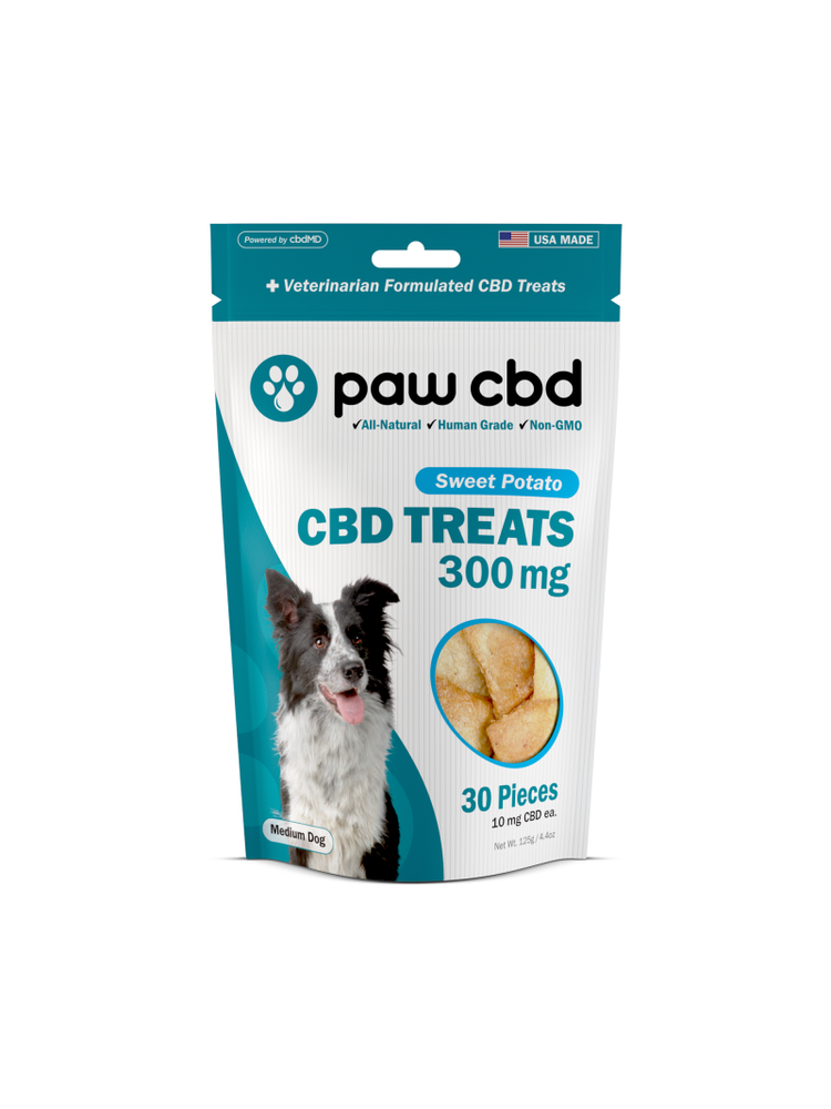 CBDMD cbdMD Dog Treats 300mg, Sweet Potato, 4.4oz.