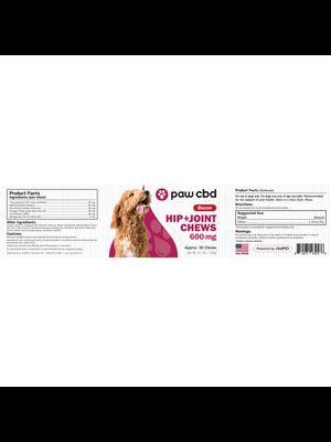 CBDMD cbdMD paw CBD Dog Soft Chews 600mg, Hip and Joint, 30ct