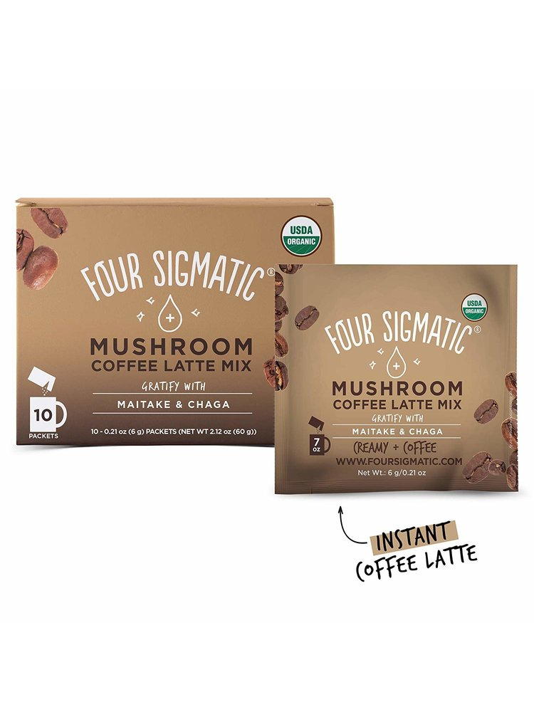 FOUR SIGMATIC Four Sigmatic Coffee Latte Mix, Lion's Mane, THINK, 10ct.