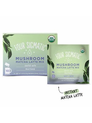 FOUR SIGMATIC Four Sigmatic Mushroom Matcha Latte Mix, Lion's Mane, THINK, 10ct.