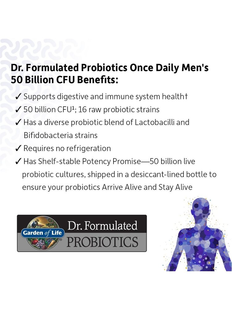 Garden of Life GoL Dr. Formulated Probiotics Once Daily Men's, 30cp