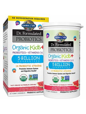 Garden of Life GoL Dr. Formulated Probiotics Organic Kids, Watermelon, SS, 30ch
