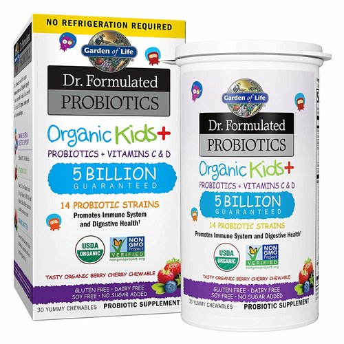 Garden of Life GoL Dr. Formulated Probiotics Organic Kids,Berry, SS, 30ch