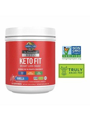Garden of Life GoL Dr. Formulated Keto Fit Shake, Vanilla, 12.52oz.