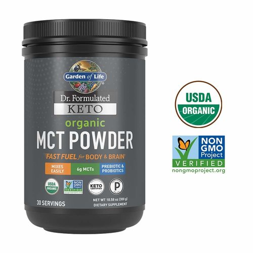 Garden of Life GoL Dr. Formulated Keto Organic MCT Powder, 10.58oz.