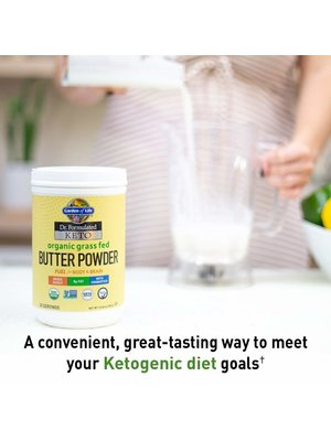 Garden of Life GoL Dr. Formulated Keto Org. Grass Fed Butter Powder, 10.58oz.