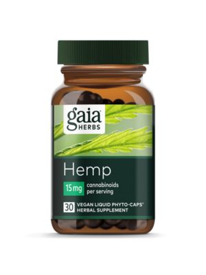 GAIA HERBS Gaia Hemp Full Spectrum Extract 15mg, 30cp