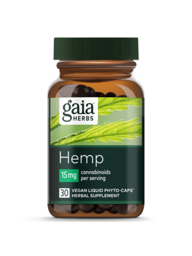 GAIA HERBS Gaia Hemp Full Spectrum Extract 15mg, 30cp
