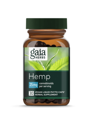 GAIA HERBS Gaia Hemp Full Spectrum Extract 25mg, 30cp