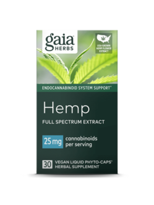 GAIA HERBS Gaia Hemp Full Spectrum Extract 25mg, 30cp