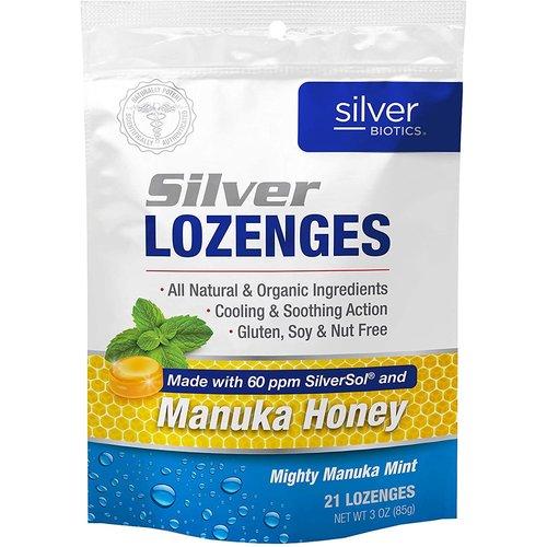 Silver Biotics Silver Biotics Silver Lozenges w/Manuka Honey, 21lz
